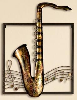 GILDE Wanddeko Wandrelief Saxophon, 40 x 53 cm