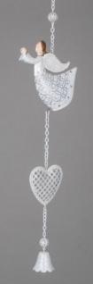 formano weihnachtliche Hängedeko Engel mit Herz und Glocke, 48 cm
