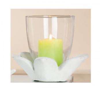 GILDE Zement-Windlicht Blüte, 22x22x15 cm
