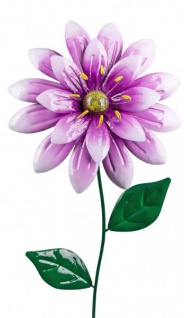 Gartendeko Blume edler Gartenstecker lila grün 94 cm