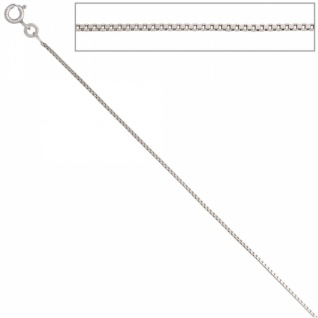Venezianerkette 333 Weißgold 0, 9 mm 38 cm Gold Halskette Federring