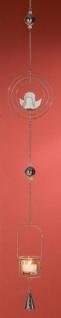 GILDE Hängedeko Teelichthalter Kreis mit Engel aus Metall, 100 cm