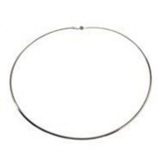 45 cm Omega Halsreif - 333 Weißgold - 0, 8 mm Halskette