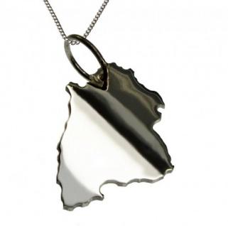 BADEN-WÜRTTEMBERG Kettenanhänger 925 Silber mit 50 cm Halskette