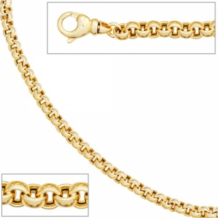 Erbsarmband 585 Gold Gelbgold 19 cm Armband Karabiner - Vorschau 2