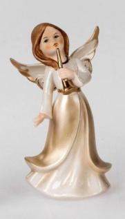 formano Engel Figur in Champagner und Gold aus Porzellan, 20 cm