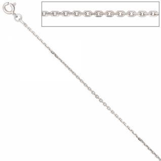 Ankerkette 333 Weißgold 1, 6 mm 42 cm Gold Kette Halskette Federring
