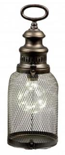 Trendige Laterne im nordischen Stil mit LED Beleuchtung 14x36 cm