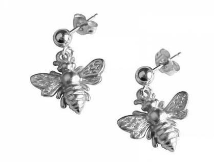 Ohrringe 925 Silber BEE Biene 1, 5 cm