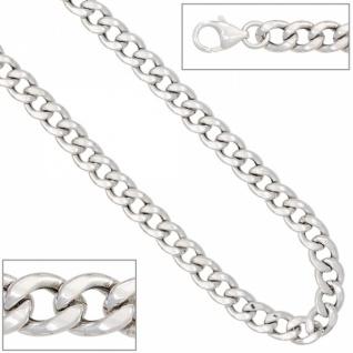 Armband 925 Sterling Silber rhodiniert 19 cm Karabiner 7 mm breit