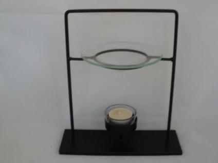 Schwarze moderne Metall-Duftlampe, 22 cm