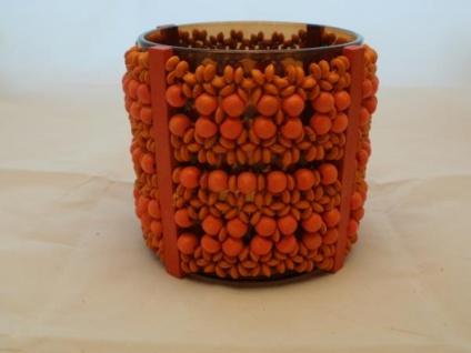 Windlicht - Afrika - orange - ca. 11, 5 cm hoch