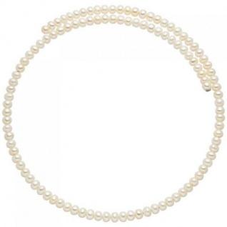 Halsreif aus Süßwasser Perlen weiß Perlenkette Perlencollier flexibel