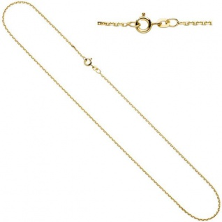 Ankerkette 333 Gelbgold 1, 2 mm 45 cm Gold Kette Halskette Federring