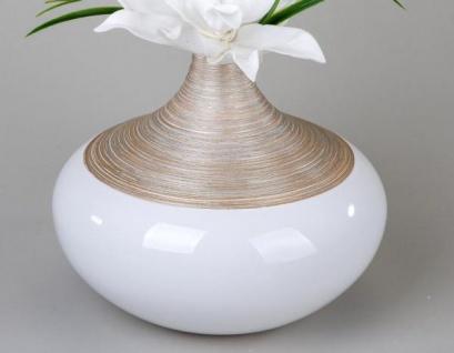 formano Vase champagner creme aus Keramik, 23 x 27 cm