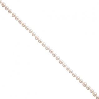 Akoya Perlen Schnur weiß leicht barock Durchmesser ca. 6-6, 5 mm