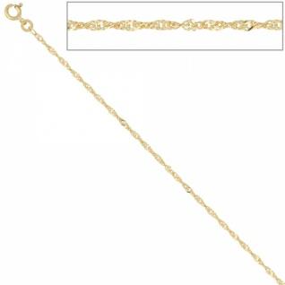 Singapurkette 333 Gelbgold 1, 8 mm 50 cm Halskette Federring