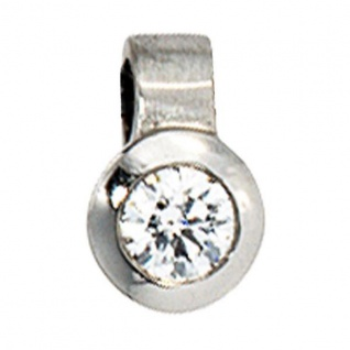 Anhänger rund 950 Platin matt 1 Diamant Brillant 0, 12 ct.