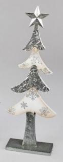 formano Dekofigur Winter Tanne aus Metall und Holz, 54 cm