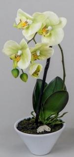 Orchidee im Porzellantopf, gelb, 35 cm