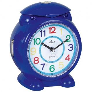 Atlanta 2129/5 Wecker für Kinder Quarz analog Kinderwecker blau mit Licht