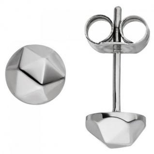 Ohrstecker rund aus Edelstahl Ohrringe 5, 9 mm