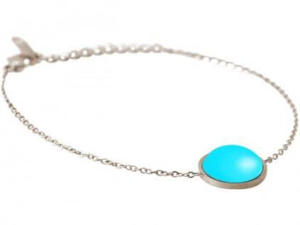 GEMSHINE Damen Armband mit Türkis Edelstein 18, 5 cm