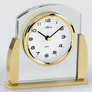 Atlanta 3038/9 Stiluhr Tischuhr Quarz analog golden mit Glas