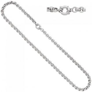 Erbskette 585 Weißgold 45 cm Kette Halskette Weißgoldkette Federring