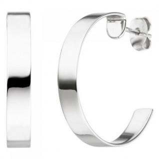 Halbcreolen 925 Sterling Silber 25, 8 mm Ohrringe