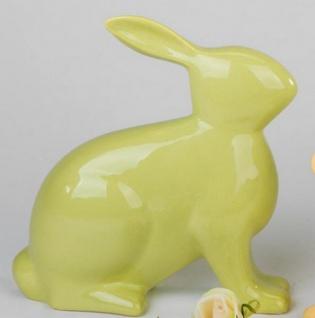 formano Hase aus Steingut grün sitzend, 20 cm