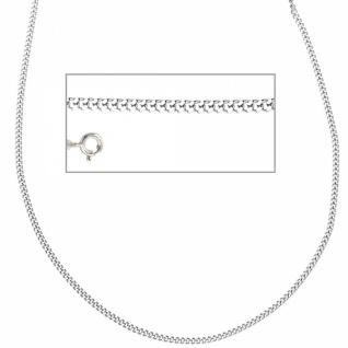 Panzerkette 925 Silber rhodiniert 42 cm Halskette Federring 1 mm
