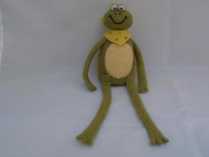 Frosch mit Schlenkerbeinen