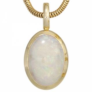 Anhänger 585 Gold Gelbgold 1 Opal