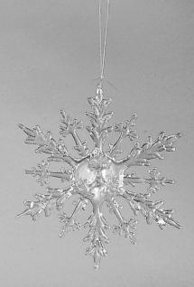 fornano Hängedekoration Eiskristall Acryl klar, 20 cm