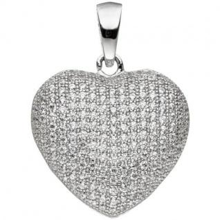 Anhänger Herz 925 Sterling Silber mit Zirkonia HerzAnhänger