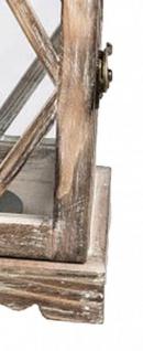 Laterne im antikstyle Look mit orientalischem Metalldach 16 x 39 cm