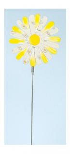 GILDE Gartenstecker Blume im 3D Format, gelb, 16, 5 x 68 cm