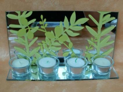 Teelichthalter - Blatt für 4 Teelichter