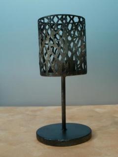 Teelichthalter Style aus Metall, 20 cm hoch