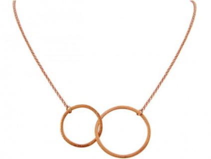Halskette Anhänger Eternity Kreise Infinity Geometrisch Rose 45 cm