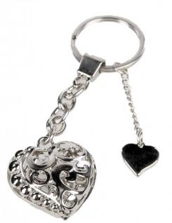 Formano Schlüsselanhänger Herz mit Strasssteinen 10 cm