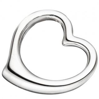 Kinder Anhänger Herz Schwingherz 925 Sterling Silber Herzanhänger