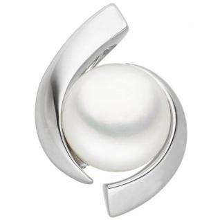 Anhänger 333 Gold Weißgold 1 Süßwasser Perle Perlen Anhänger