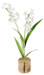 Künstlich blühende weiße Zwiebelbume Frühlingsblüher grün weiß 34 cm