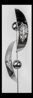 formano Gartenstecker aus Edelstahl Doppelbogen mit Kugeln, 180 cm
