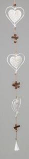 formano Dekohänger Herz mit Punkten aus Metall, 9x68 cm