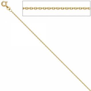 Ankerkette 585 Gelbgold 1, 2 mm 38 cm Gold Kette Halskette Federring