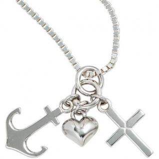 Kinder Anhänger Glaube Liebe Hoffnung 925 Sterling Silber Kinderanhänger - Vorschau 3