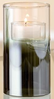 GILDE Windlicht aus farbigem Glas, 13 cm